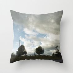 """Pillow - Landscape Photograph - Throw Pillow Cover Includes Pillow Insert - Clouds and Trees - Made to Order This pillow is done with an original photo - Road - Clouds and Trees  This item is """"MADE TO ORDER""""  DESCRIPTION: Pillow cover is made with an original art Features a double-sided print and is finished with a concealed zipper for ease of care. INCLUDES FAUX DOWN INSERT **Larger inserts are sent with our pillows because we find that the larger inserts fill the pillows better - making…"""