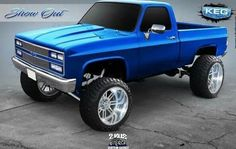 Clean square body rendering lifted up for we just wrapped up. Custom Chevy Trucks, Chevy 4x4, Chevy Pickup Trucks, Lifted Chevy Trucks, Gm Trucks, Chevy Pickups, Chevrolet Trucks, Diesel Trucks, Cool Trucks