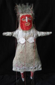 the first dolls Textiles, Breast Cancer Art, Spirited Art, Monster Dolls, Textile Fiber Art, Unusual Art, Cecile, Creepy Dolls, Outsider Art