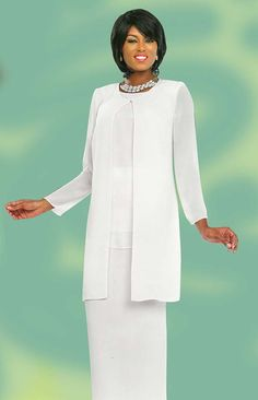 Ashro White Formal Dress Wedding Dinner Church Layne Skirt Suit 8 10 14 22W PLUS