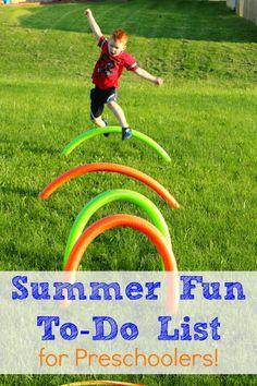 Summer Fun To-Do List for Preschoolers