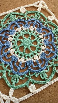 Closer look at turkish tiles crochet kace Crochet Square Pattern, Crochet Blocks, Square Patterns, Crochet Stitches Patterns, Tatting Patterns, Crochet Squares, Thread Crochet, Crochet Motif, Irish Crochet
