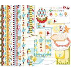 Big Top Birthday Embellishments -- Digital Download