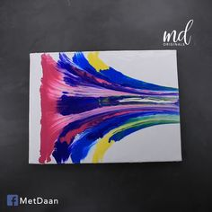 A very fun and creative way to make abstract art 😍 Acrylic Pouring Techniques, Acrylic Pouring Art, Acrylic Wall Art, Diy Canvas Art, Abstract Canvas, Abstract Art For Kids, American Flag Art, Easy Paintings, Abstract Paintings