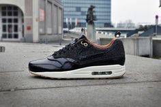 f3010616f3c Nike Air Max 1 FB Woven Black Leopard