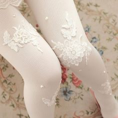 Sweet Lace Flower Tights