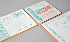Hawaiian Wedding Invitation by Jon Kula, via Behance