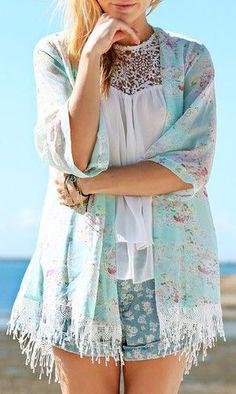 Tassel Fringe Kimono