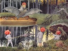 Thumbnail for version as of 30 January 2013 Fairy Land, Fairy Tales, Elsa Beskow, Drawing Sketches, Drawings, Women In History, Land Art, Photo Illustration, Faeries