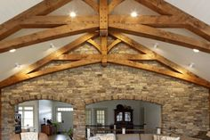 Timber Frame Homes & Additions - Post and Beam Homes Timber Frame Homes, Timber House, Timber Frames, Home Ceiling, Ceiling Decor, Porch Beams, Scissor Truss, Exposed Rafters, Decks And Porches