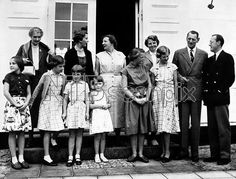 The Danish and Dutch Royal families during the visit of the Dutch Royal family to Graasten Palac . (left to right) Back Row - Lady Patricia Ramsey , Queen Ingrid of Denmark , Queen Juliana of the Netherlands , Princess Beatrix of the Netherlands , King Frederik of Denmark and Prince Bernhard of Netherlands. Front Row - Princess Margriet of the Netherlands , Princess Benedicte of Denmark , Princess Anne-Marie of Denmark Princess Marijhelands of the Netherlands , Princess Irene of the…