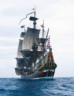 Ships like these were used during the Renissance. It would take months to go on a journey, and a lot of people died sailing the ocean.