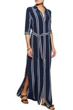 165 outnet Iris and InkAdie striped silk crepe de chine maxi dress