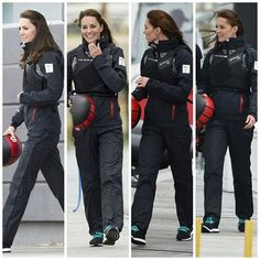The Duchess of Cambridge joined Sir Ben Ainslie at a Sailing Training Session at Portsmouth.  20 May 2016  #duchessofcambridge