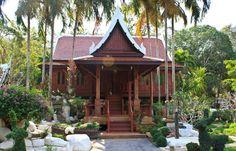thai pavilion in Temple of The Wat Rhai Pa, Trat, Thailand