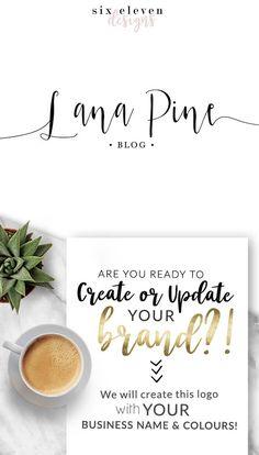235  Lana Pine LOGO Premade Logo Design Branding Blog, Logo Design, Premade Logo, Branding, Blog Header, Business Logo, Photography, Boutique, Shop, Jewellery, Website,