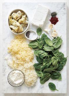 Spinach Cheese Dip, Best Spinach Artichoke Dip, Baked Spinach Artichoke Dip, Artichoke Dip Recipes, Spinach Stuffed Chicken, Appetizer Dips, Appetizer Recipes, Wine Recipes, Food Network Recipes