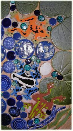 frog caramic tile mosaics