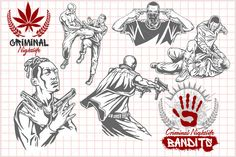 Check out 10 illustrations - Bandits. by Digital-Clipart on Creative Market