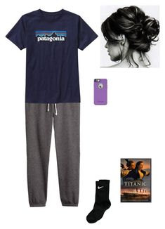 """Watching Titanic"" by morgantaylor37 ❤ liked on Polyvore featuring H&M, Patagonia, NIKE and OtterBox"