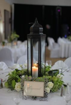cozy lantern centerpiece
