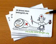 www.bilderbunt.info Schneckerl-POSTKARTE  *Ich komme schon herbeigeeilt und puste deine Sorgen weg* - 31