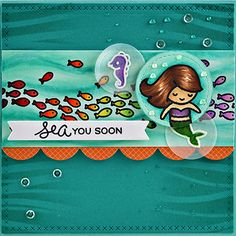 PageMaps & Lawn Fawn Sea You See Mermaid For You Card by Jessica Spencer.