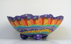 Bowl en Papel Maché   Mide 26 cm. de diámetro por 10 cm. de …   Javiera Donoso Romo   Flickr