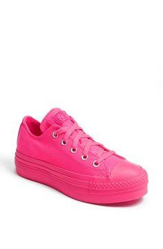 Rad. Hot pink Converse Chuck Taylors