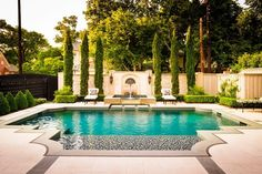 Traditional pool and outdoor area