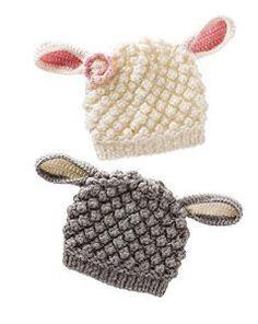 Baby Knitting Patterns For Kids Crochet Child Hats Lamb Knit Hat Knitting For Kids, Baby Knitting Patterns, Crochet For Kids, Loom Knitting, Knitting Projects, Crochet Projects, Crochet Patterns, Knitting Ideas, Crochet Baby Hats
