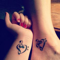Mother daughter tattoo. <3