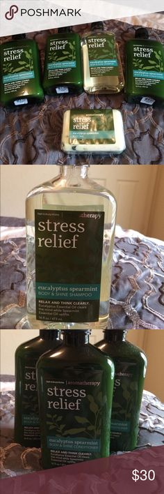 Stress Relief Never used (1) shampoo (3) Conditioners and (1) body bar Bath & Body Works Other
