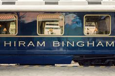 A jounrey to Machu Picchu on Belmond's Hiram Bingham luxry train in Peru, formally of the Orient Express
