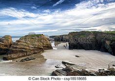 Spanish destination, Playa de las catedrales - csp18518685