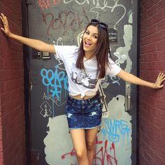 #SummerInSoho #FBF  @aeropostale @tokyodarling- Victoria Justice Instagram