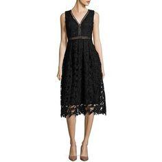 Design Lab Lord & Taylor Lace Midi Dress