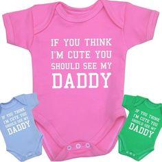 dd3ec6e345721a BabyPrem Baby Clothes Cute Daddy Bodysuits Vests Girls Boys Funny Slogan  Gift