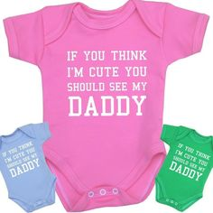 BabyPrem Baby Clothes Cute Daddy Bodysuits Vests Girls Boys Funny Slogan Gift in Baby, Clothes, Shoes & Accessories, Other Clothing, Shoes & Accs. | eBay
