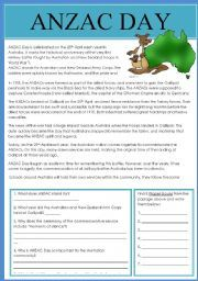 English worksheet: ANZAC Day in Australia. Vocabulary Worksheets, School Worksheets, Anzac Day Australia, Persuasive Text, Primary History, Teaching Resources, Teaching Ideas, Celebration Day, Comprehension Activities