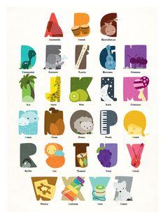 Alphabet Print in Spanish <3 van Acopladitos op Etsy