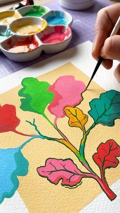 Colorful Drawings, Art Drawings, Oil Pastel Art, Art Journal Techniques, Guache, Wow Art, Sewing Art, Diy Canvas Art, Art Journal Inspiration