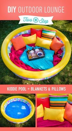 41 Cool DIY Hacks for Summer (loving this super cool DIY outdoor lounge)