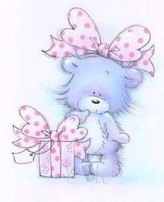 Finding Neverland Teddy Bear Images, Bear Illustration, Cute Paintings, Happy Birthday Messages, Christmas Greeting Cards, Christmas Greetings, Cute Teddy Bears, Tatty Teddy, Beautiful Handmade Cards