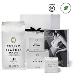 Cora Maternity & Pregnancy Gift Box Set (Organic Nipple Balm, Belly Butter, Bamboo Feminine Wipes and Ultra-Thin Hybrid Pads for Periods, Incontinence & Postpartum Care, Gift Box & Product Guide) //Price: $ //     #onlineshopping