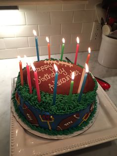Football Birthday Cake Angela Bakery In Norwalk Ct
