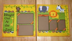 Zoo Premade Scrapbook Pages Day At the Zoo by AngelBDesigns4You