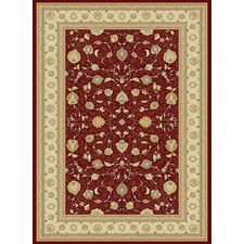 Le Art Red Gold Area Rug