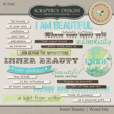 Inner Beauty | Wordart Bits :: Word Art & Titles :: Memory Scraps