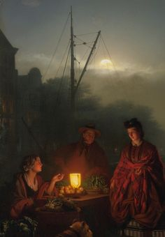 PETRUS VAN SCHENDEL DUTCH THE NIGHT MARKET